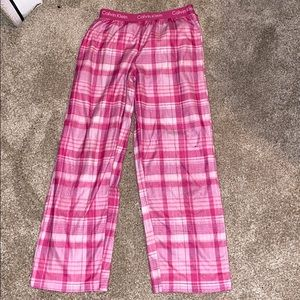 girls pink calvin Klein pj pants